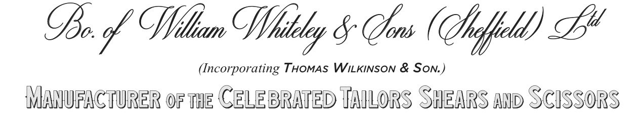 william whiteley vintage letterhead