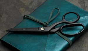 Black teflon sidebent scissors