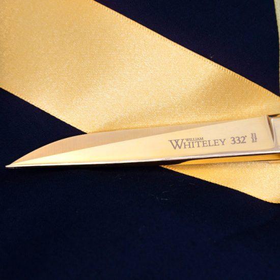 A close up of the scissor blades
