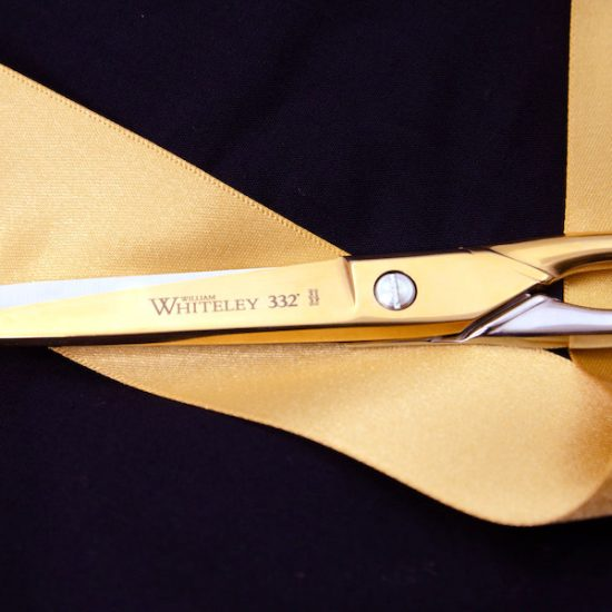 Gold Plated Scissors on a golden ribbon