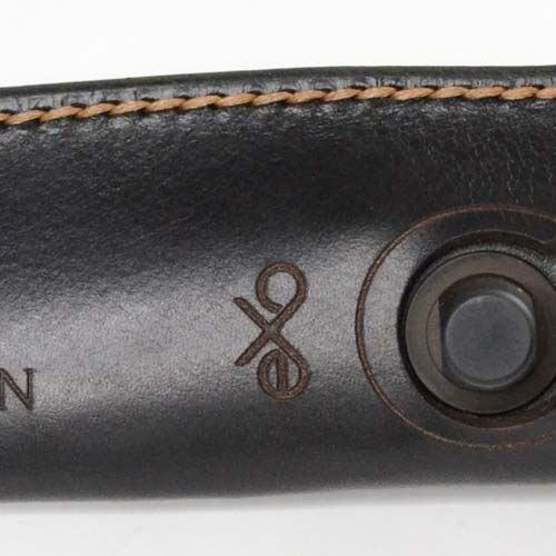 exo black leather sheath