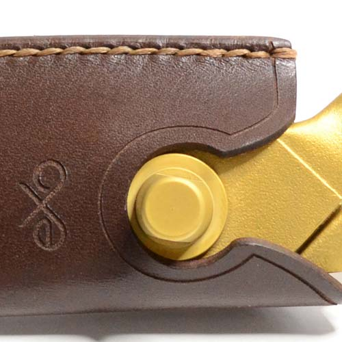 exo brown leather sheath
