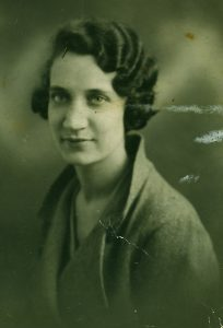 A black and white vintage photo of my grandmother