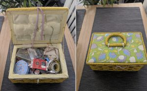 The sewing box bestowed to me by my Grandmother