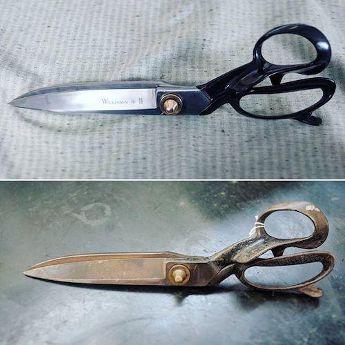 scissor resharpening